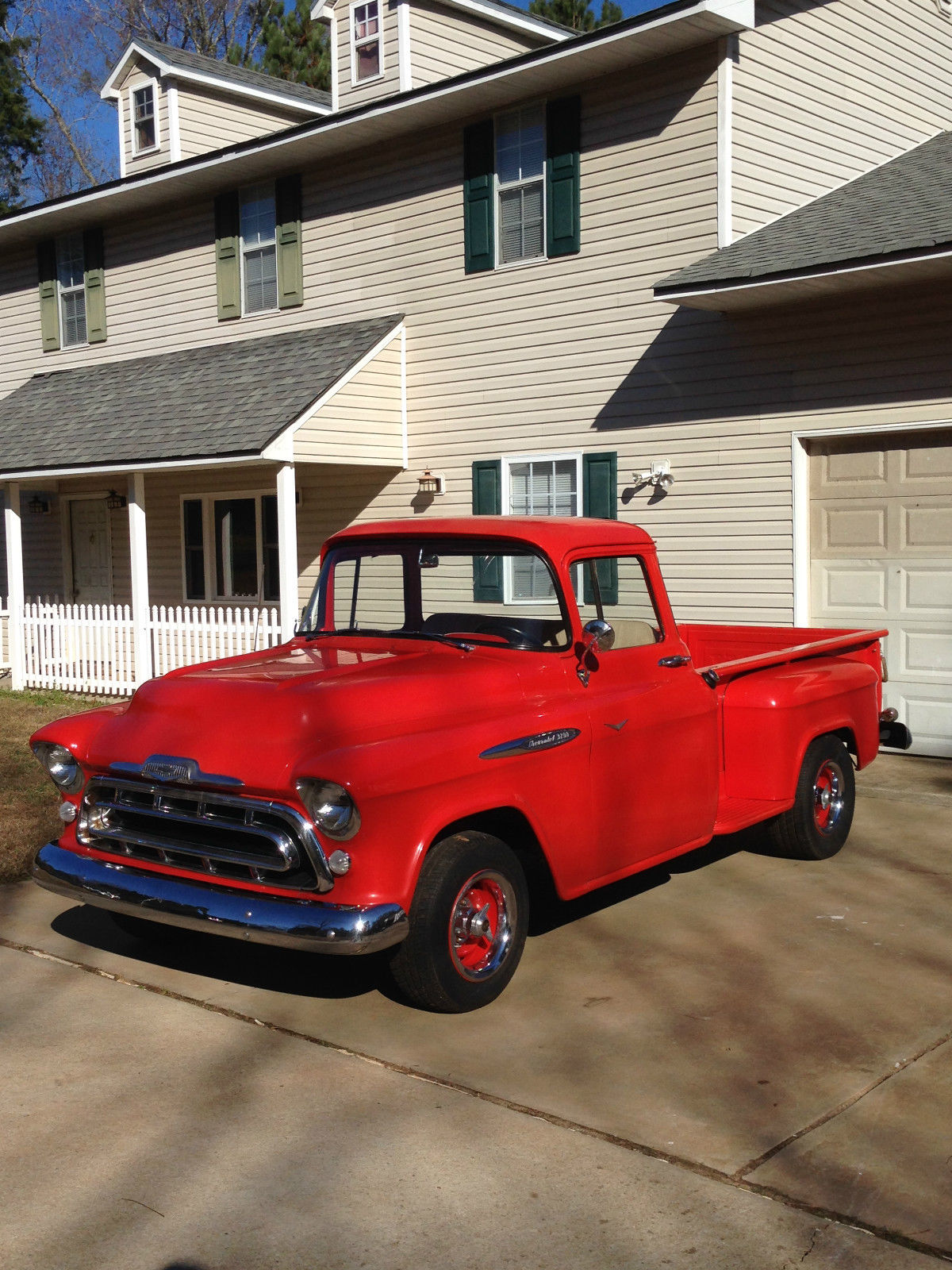 1957 Chevrolet 3200 Pickup Truck With Big Window And 8 Step Side Chevy Stepside Bed