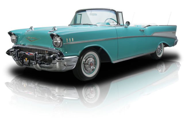 1957 chevrolet bel air 180 miles tropical turquoise convertible 283 v8 2 speed. Black Bedroom Furniture Sets. Home Design Ideas