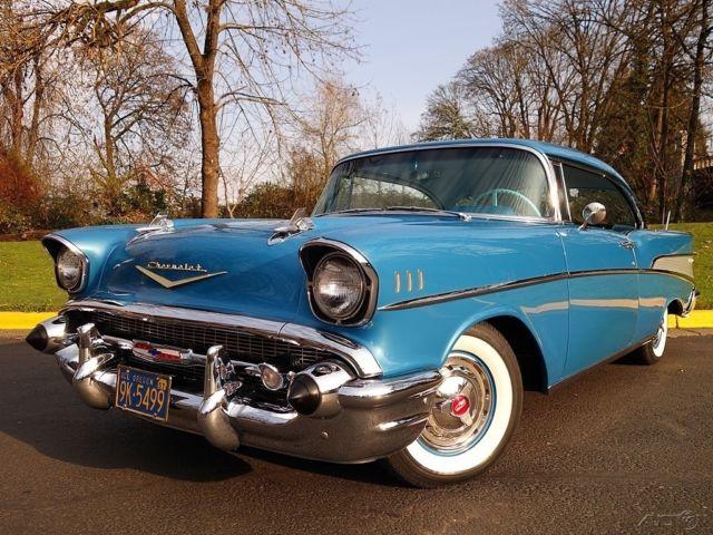 1957 Chevrolet Bel Air 2 Door Hardtop Harbor Blue 283 V8