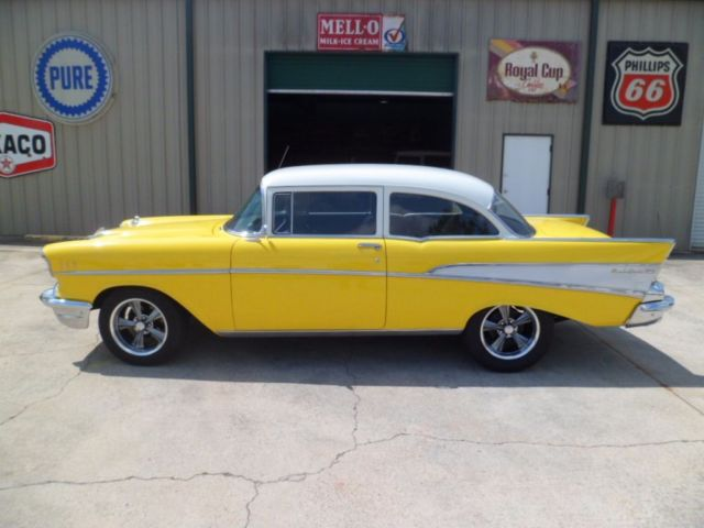 1957 Chevrolet Bel Air 3814 Miles Yellow Post Car 350 Automatic