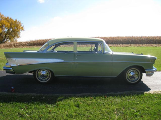 1957 chevrolet bel air 2 door hardtop for sale hemmings for 1957 chevy 2 door sedan