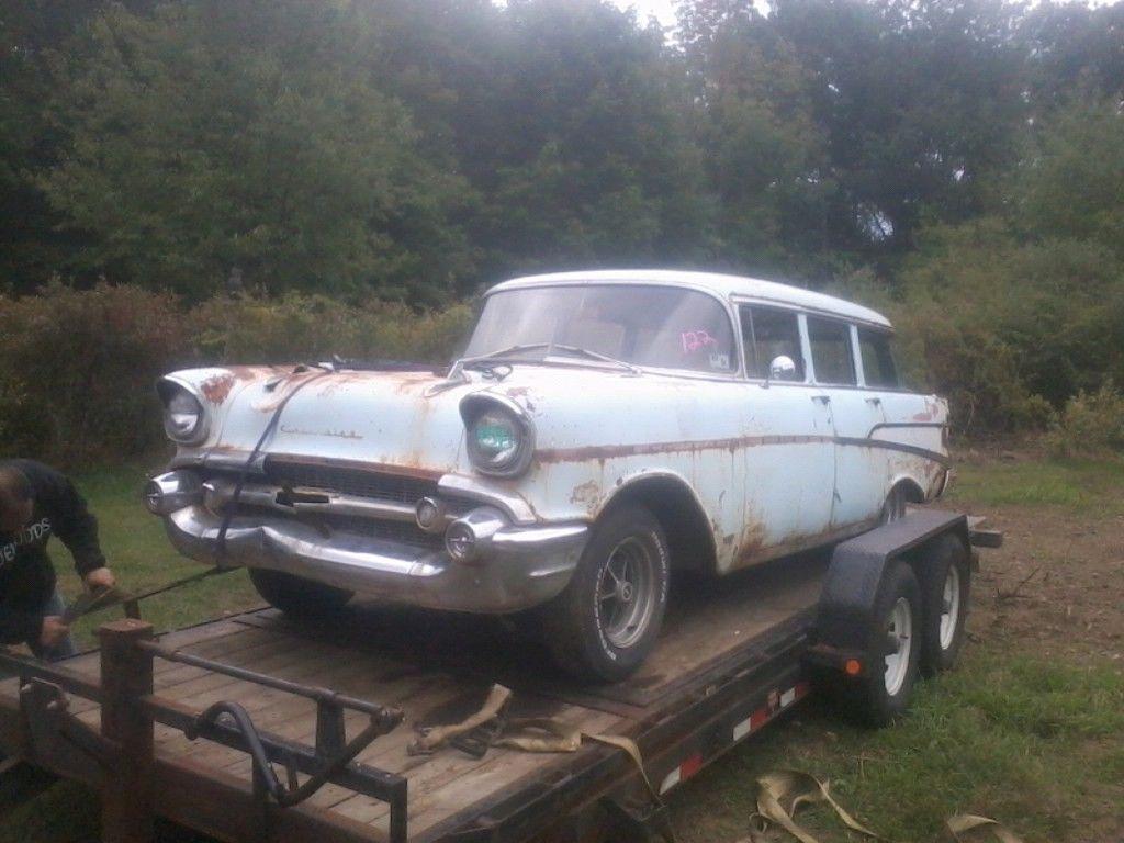 1957 Chevrolet Bel Air Base Wagon 4 Door 38l For Sale In Gardner Chevy Station 150 210