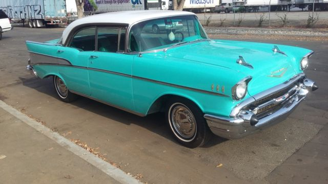 1957 chevrolet bel air sport sedan california 4 door no for 1956 chevy belair 4 door for sale