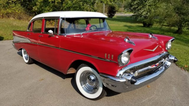 1957 Chevrolet Belair 4 Door 57 Chevy Bel Air Nice Driver