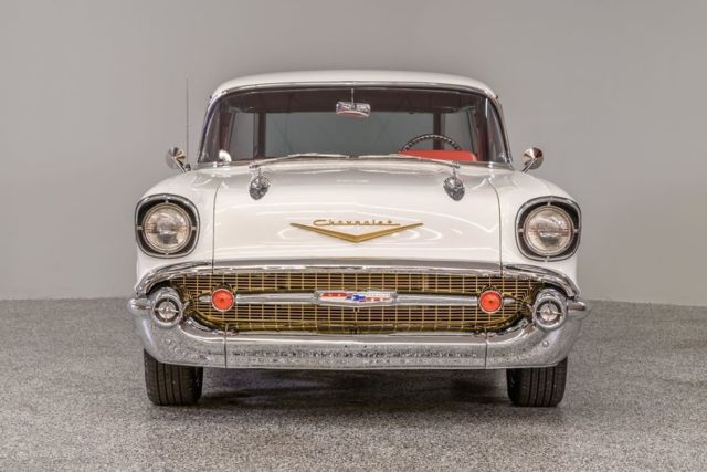 1957 chevrolet nomad 4060 miles ford performance white station wagon 350 crate for sale  photos