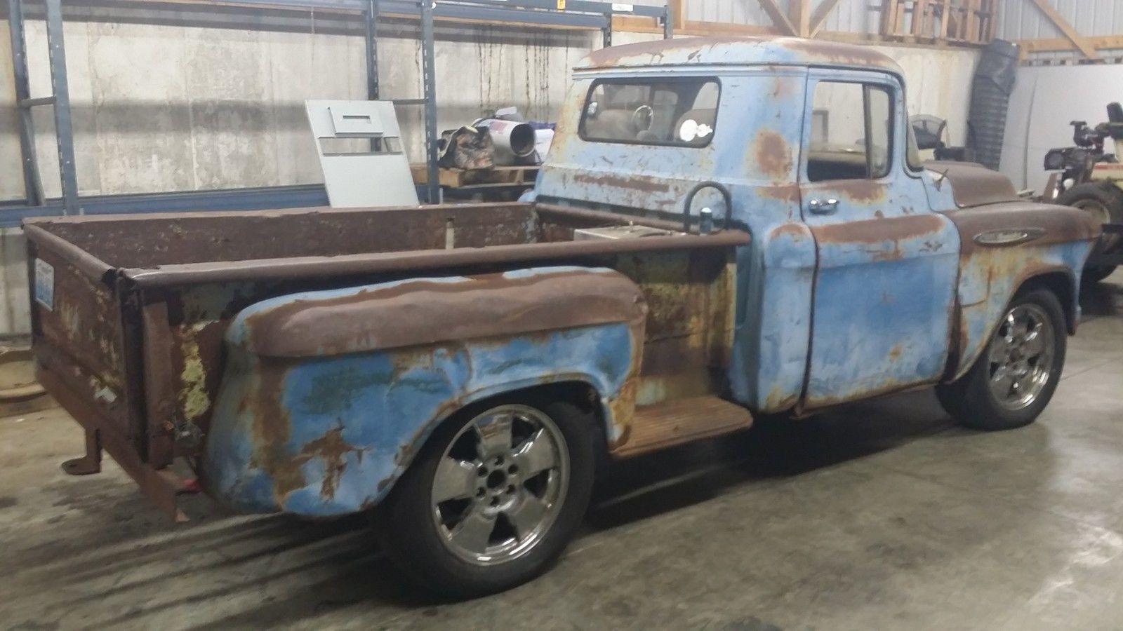 1957 Chevrolet Pickup Truck Ratrod Hotrod Project No Reserve Hot Rod