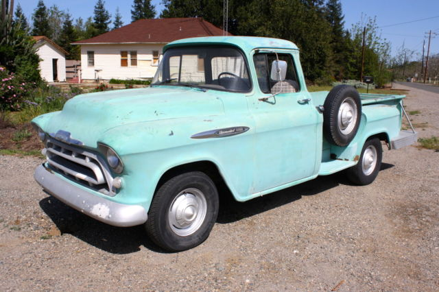 1957 Chevrolet Stepside Pickup Big Window Long Bed 1 2