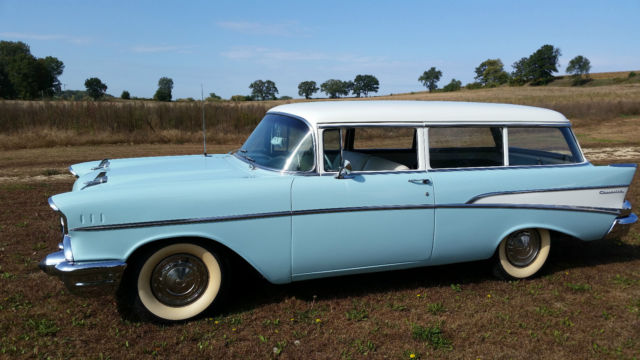 1957 Chevy 2 Door 210 Model Wagon Frame Off Restored For