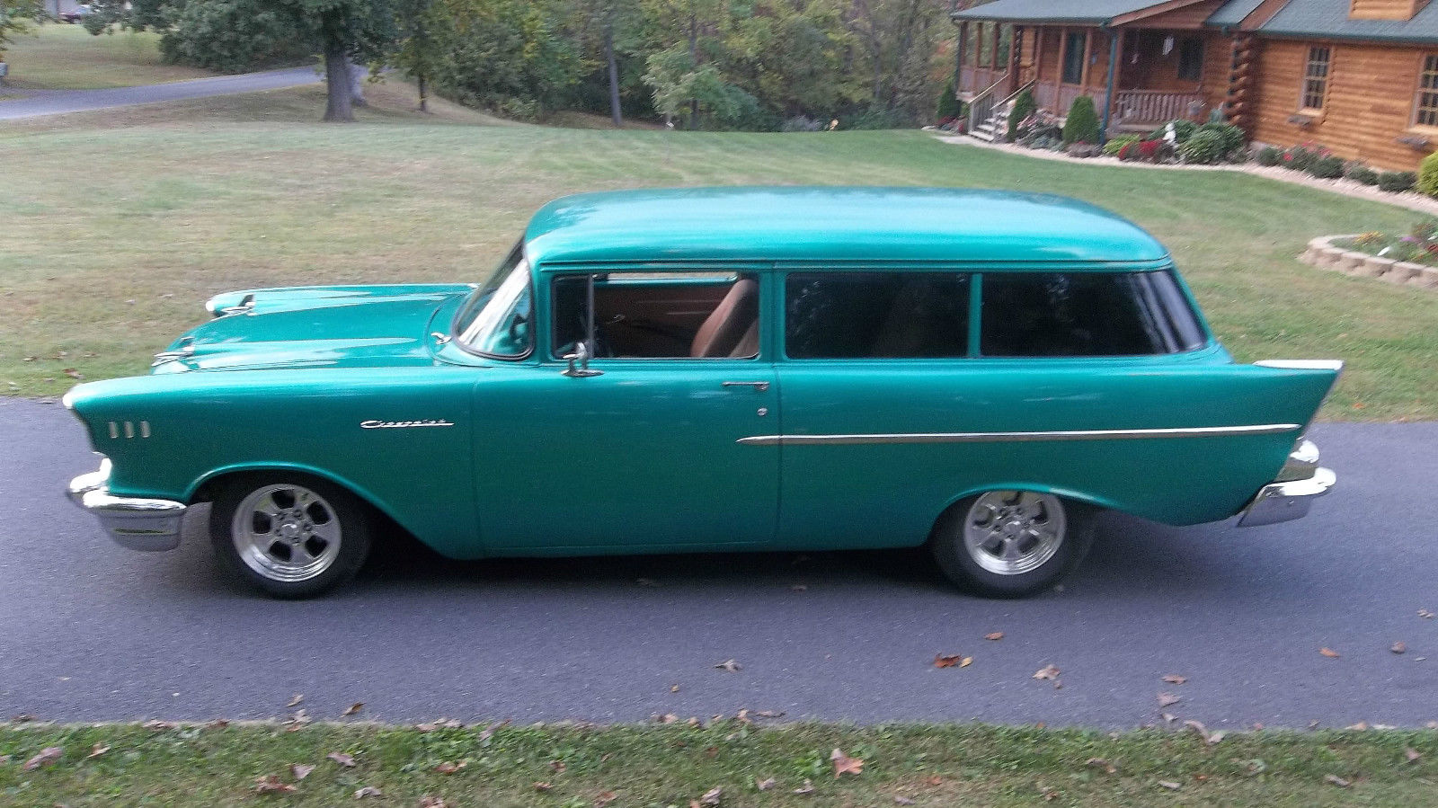 Bel Air Car >> 1957 chevy 2 door handyman wagon, rare, 350, auto, ultraleather interior for sale in Clear Brook ...