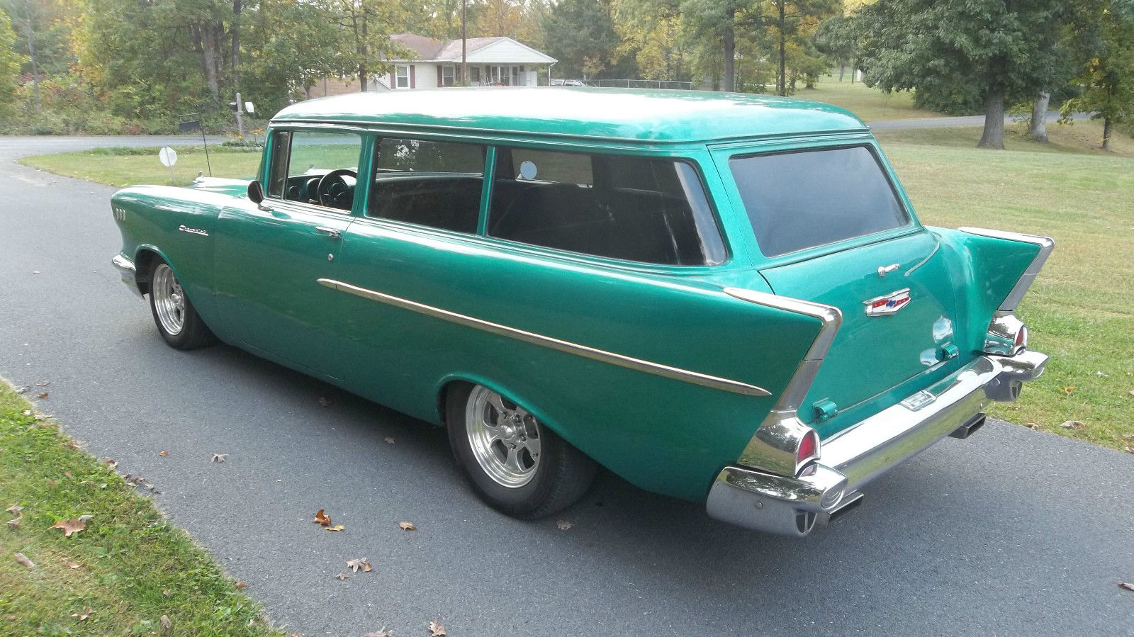 1957 Chevy 2 Door Handyman Wagon Rare 350 Auto