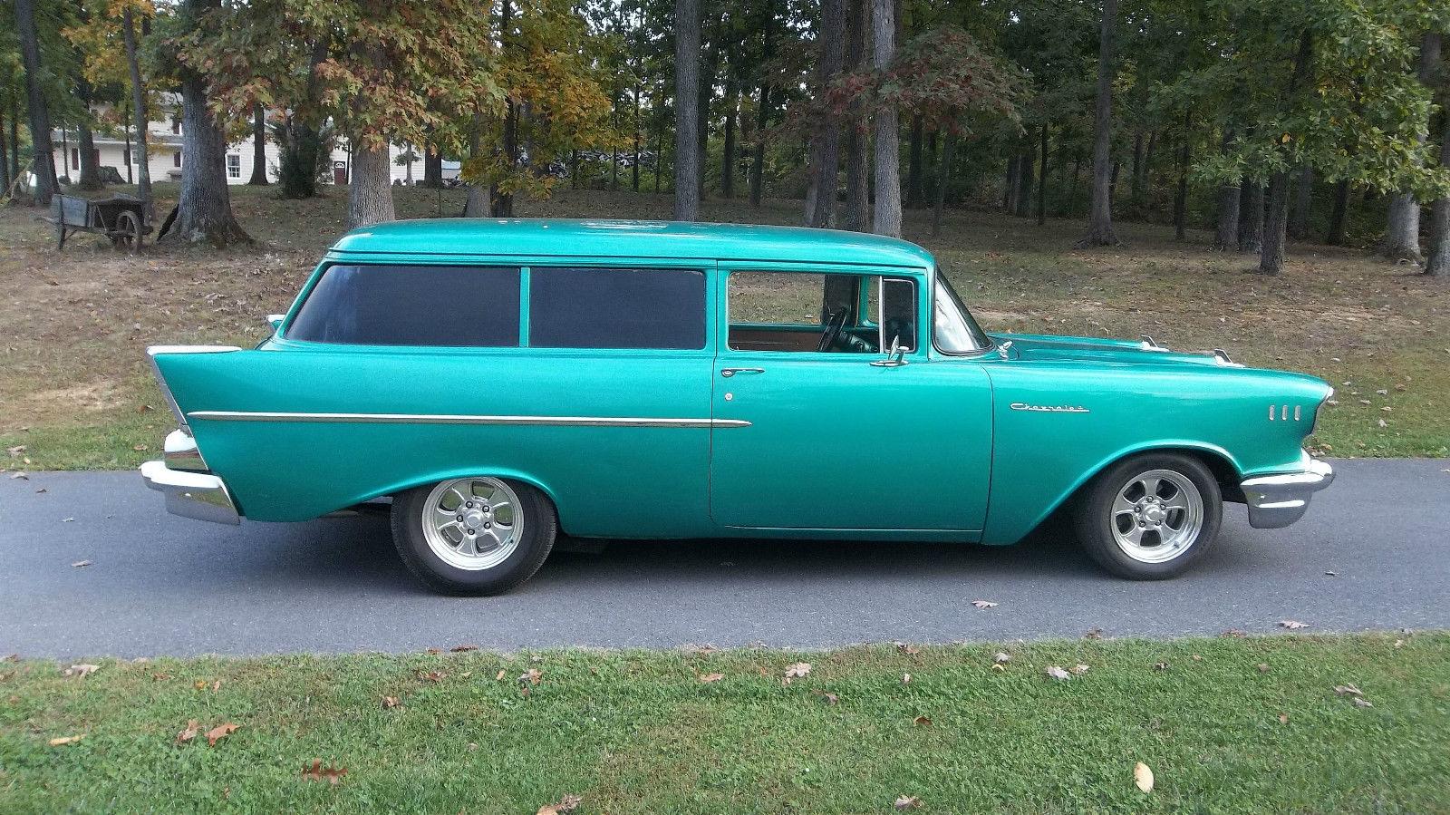 1957 Chevy 2 Door Handyman Wagon Rare 350 Auto Ultraleather Bel Air Interior Chevrolet 150 210