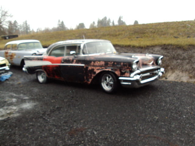 1957 chevy 4 door hard top project 2 bodies for sale in for 1957 chevy 4 door car for sale