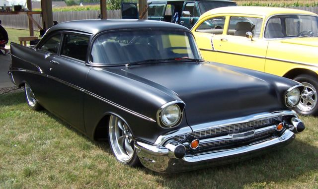 1957 chevy bel air 2 door sedan murdered out for sale in for 1957 chevy belair 4 door sedan for sale