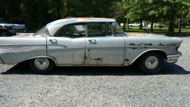 1957 chevy bel air 4 door hard top sport sedan parts runs for 1957 chevy 4 door sedan