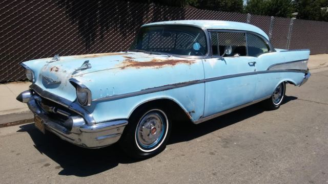 1957 CHEVY BEL AIR * SOLID BARN FIND PATINA CALIFORNIA ...