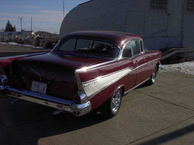 1957 chevy chevrolet belair hardtop 1956 210 post 1955 nomad fuel injected for sale  photos