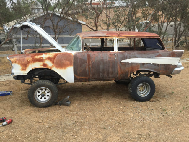 1957 Chevy Stationwagon 4x4 On A Blazer Chassis With A
