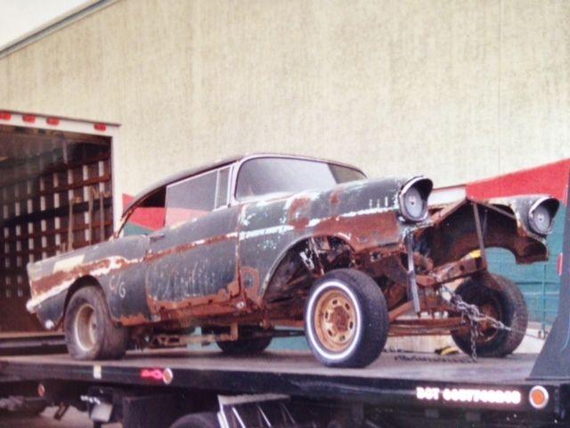 1957 Chevy Two Door Bel Air Hardtop Old School Gasser With