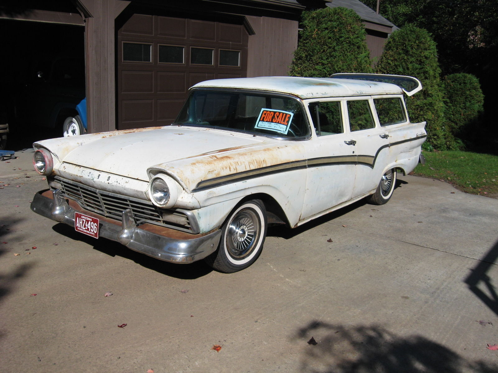 1957 ford country sedan station wagon fairlane galaxie 500 for sale in wallingford connecticut. Black Bedroom Furniture Sets. Home Design Ideas