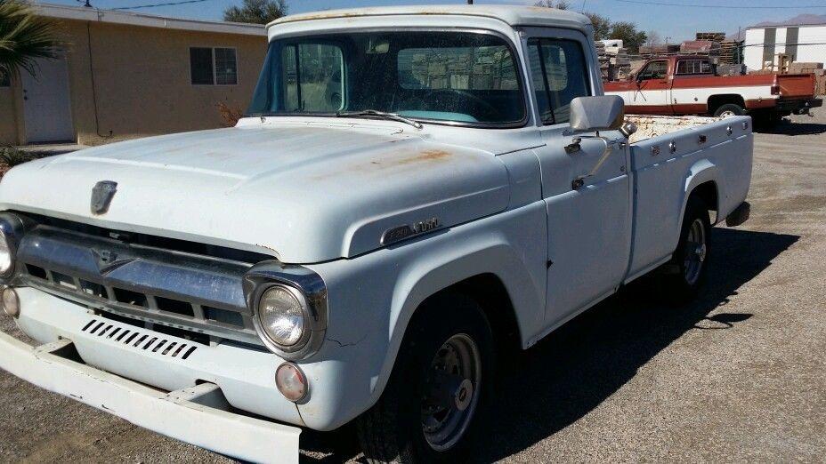 1957 ford pickup truck custom cab f 250 solid dry desert original v8 rat rod for sale in las. Black Bedroom Furniture Sets. Home Design Ideas