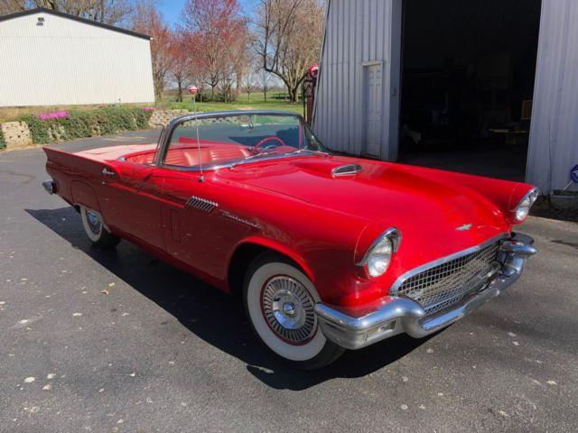 1957 Ford Thunderbird 57 T Bird 312 270hp E Code Car Price Drop Of 10 000