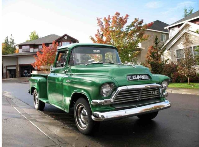 1957 Gmc Stepside Big Window Same Body As Chevy Truck For