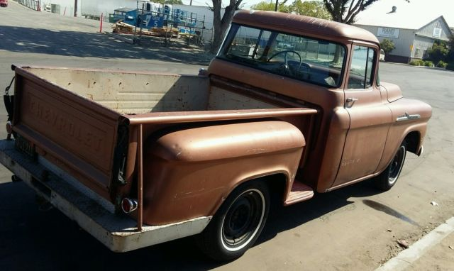 1958 chevrolet chevy truck 3100 big window patina shoptruck 1955 1956 1957 for sale in fresno. Black Bedroom Furniture Sets. Home Design Ideas
