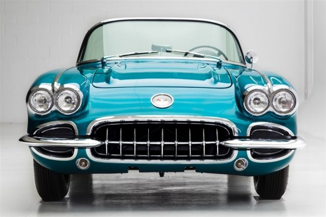 1958 Chevrolet Corvette Rare Regal Turquoise Manual