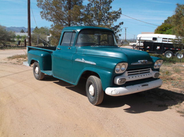 1958 chevy apache longbed stepside for sale in kingman arizona united states. Black Bedroom Furniture Sets. Home Design Ideas