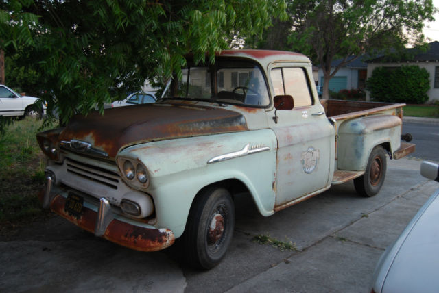 1958 chevy apache pickup big window long bed for sale in san jose california united states. Black Bedroom Furniture Sets. Home Design Ideas