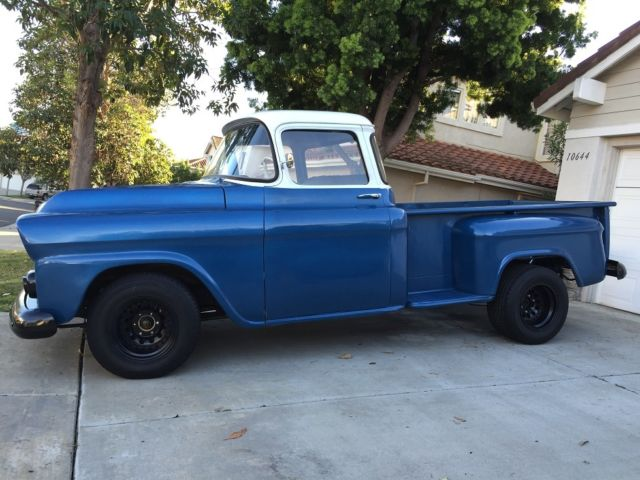 1958 Chevy Apache Stepside Pickup Truck Rare Big Window New Paint