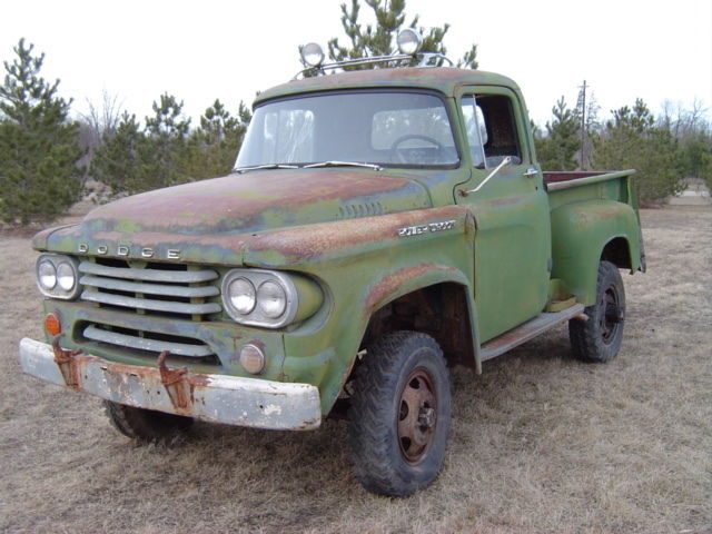 1958 dodge 4x4 power wagon for sale in ottertail for Motorized wagon for sale