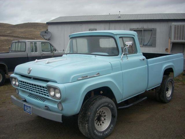 1958 Ford F100 4x4 4wd Pickup Truck V8 Auto Pb Ps