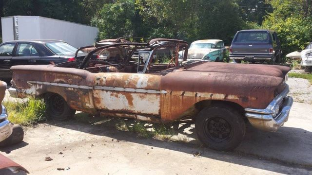 1958 Impala Convertible Chevy Belair 59 60 61 62 63 64 Vert Rag Donor Chevrolet For Sale In