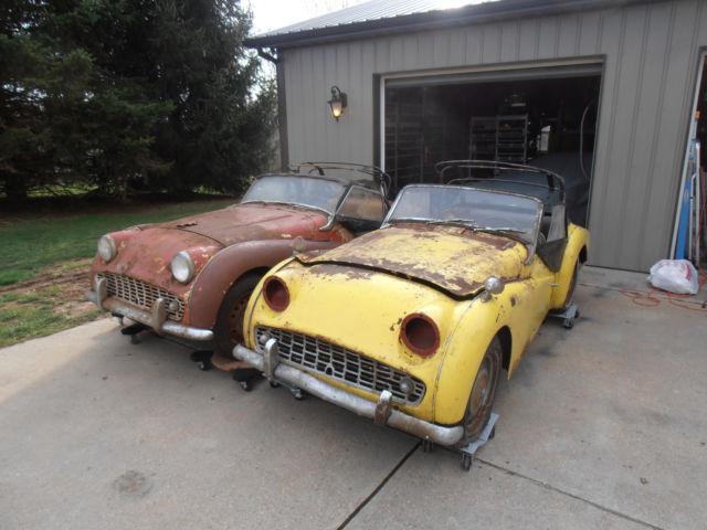 1959 60 Triumph Tr3 2 Cars One Price