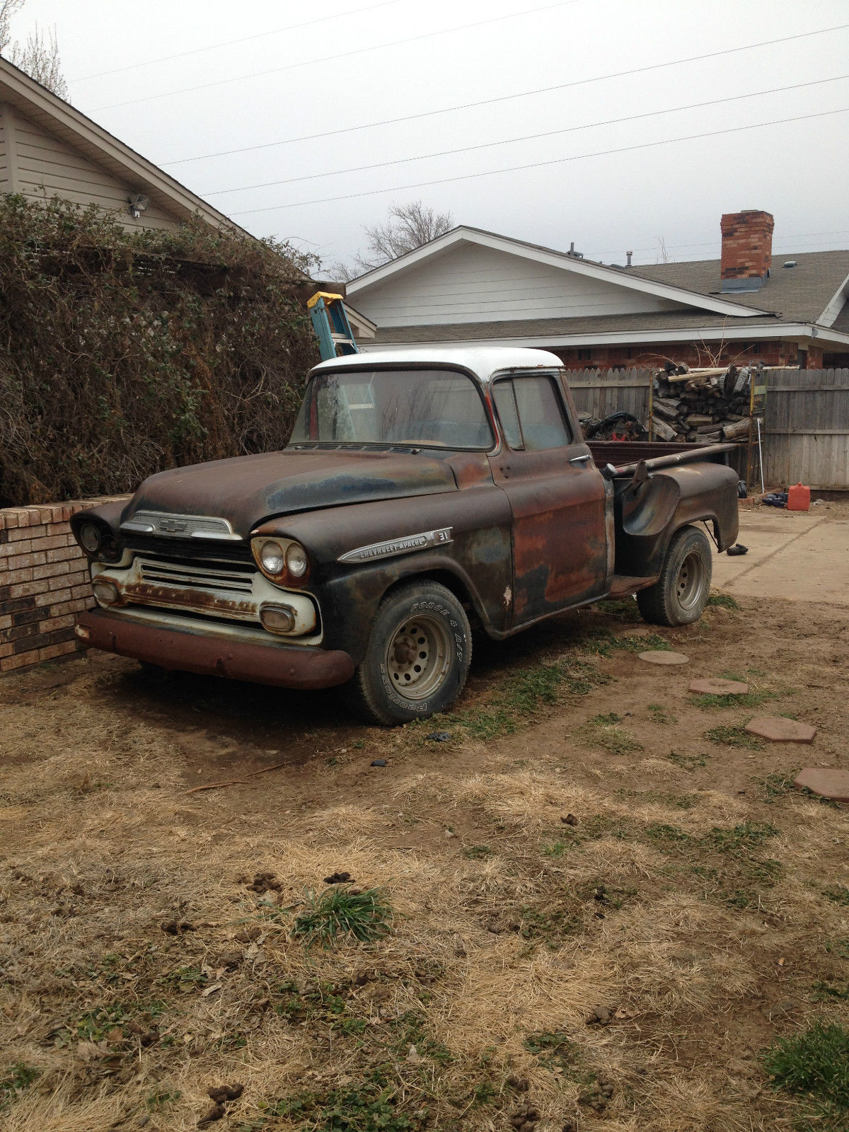 1959 chevrolet apache stepside pickup project for sale in amarillo texas united states. Black Bedroom Furniture Sets. Home Design Ideas