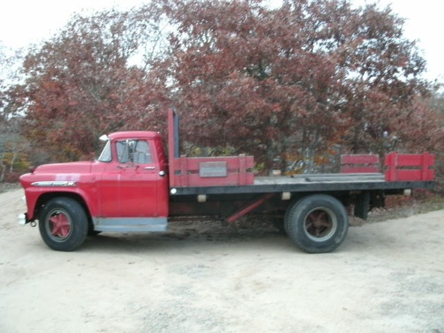 1959 chevy spartan 80 flatbed dump truck for sale in west tisbury massachusetts united states. Black Bedroom Furniture Sets. Home Design Ideas