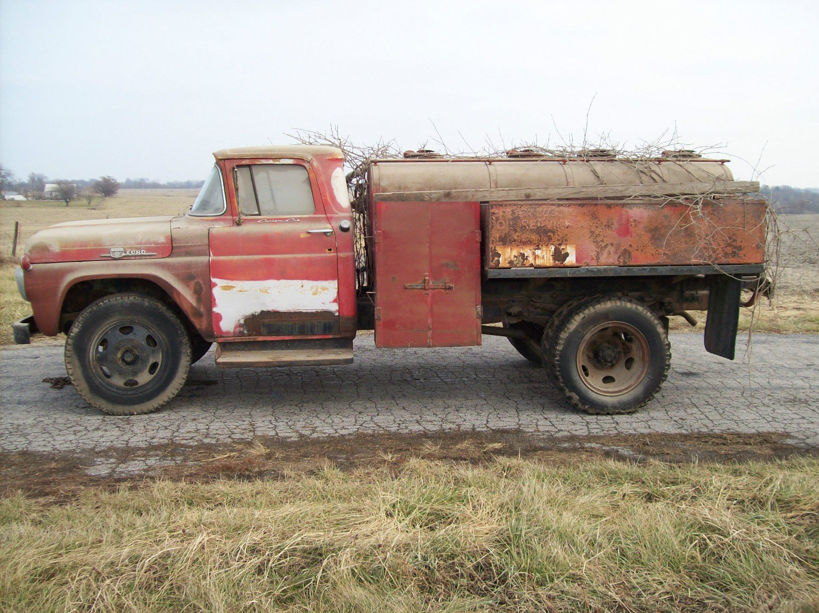 1959 ford f 600 vintage fuel delivery truck for sale in lenexa kansas united states. Black Bedroom Furniture Sets. Home Design Ideas