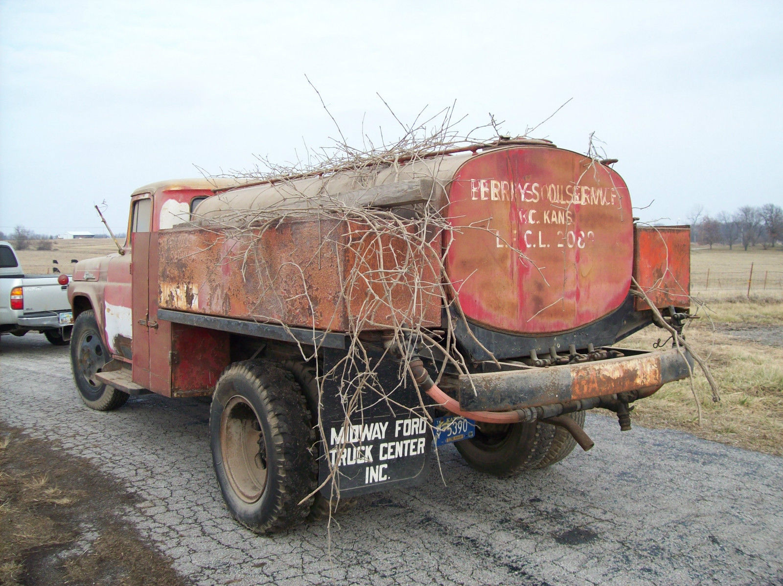 1959 Ford F 600 Vintage Fuel Delivery Truck For Sale In