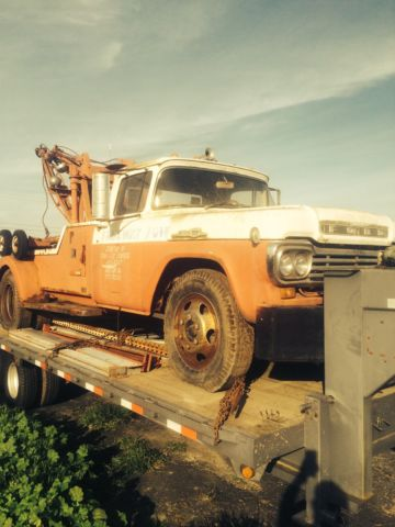 Vintage Trucks For Sale >> 1959 ford f600 tow truck custom wrecker rat rod project classic vintage holmes for sale in Tracy ...