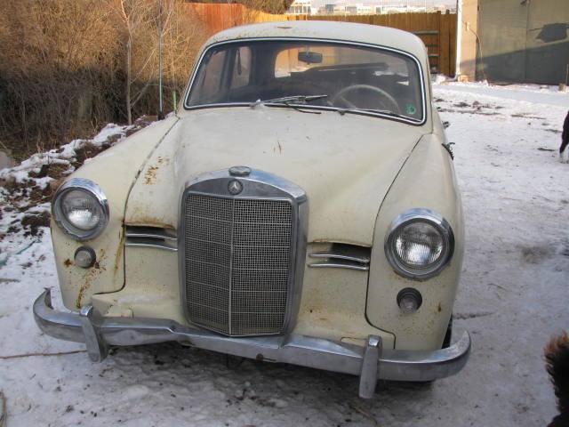 1959 mercedes benz 180d ponton over 7 000 in parts barn for Mercedes benz 7000