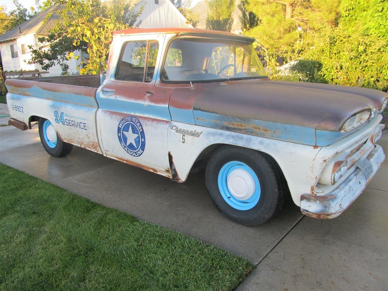 1960 chevy shop truck  rat rod  hot rod  c10  apache