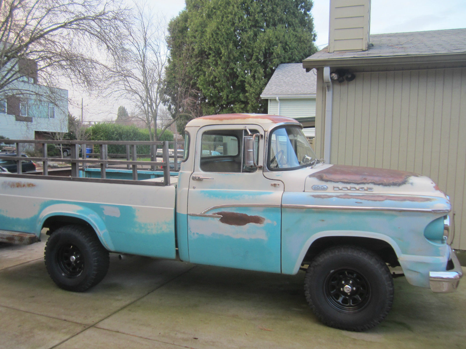 1960 classic dodge d100 pickup truck runs great for sale in portland oregon united states. Black Bedroom Furniture Sets. Home Design Ideas