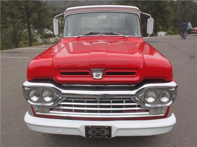 Ford F Custom Cab Miles Red And White Truck V Automatic