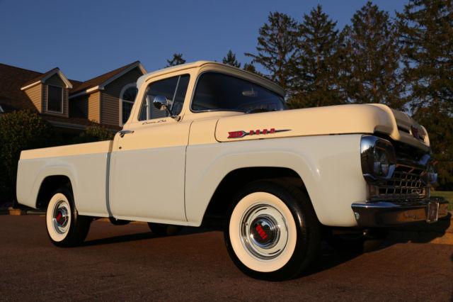 1960 Ford F100 Custom Cab Pickup 292 V8 3speed Frame Up