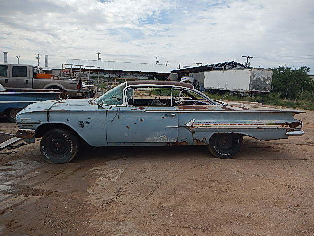 BARN FIND PARTS PROJECT CAR 1960 Chevrolet Impala 2dr H T