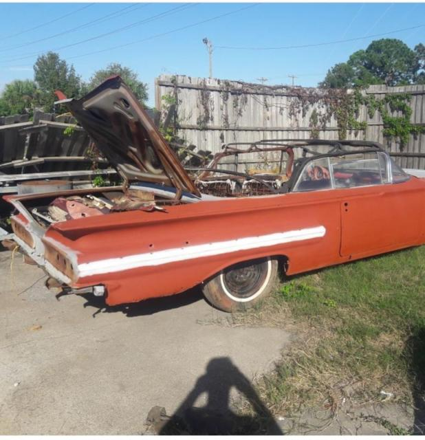 1960 Impala Convertible Project For Sale: Photos