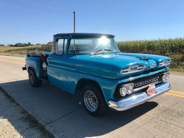 1961 Chevy Apache pick up v8 No Reserve 1/2 ton hot rod 1958 1959 ...
