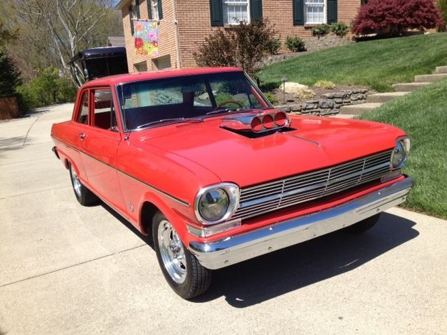 1962 chevrolet nova ii 300 327 v8 red on red show quality muscle car for sale in fairfield. Black Bedroom Furniture Sets. Home Design Ideas
