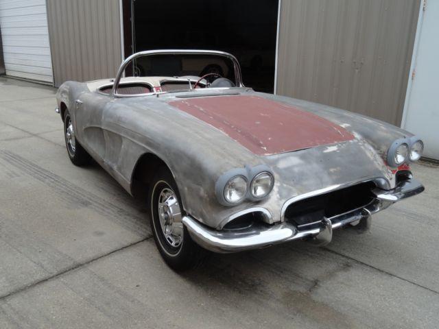 Reproduction Corvette Body >> 1962 CORVETTE RESTORATION PROJECT C1 HOT ROD NEEDS WORK C1 NCRS 1961 1960 1959